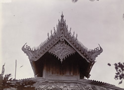 A gable of one of the subsidiary buildings surrounding the Taik Taw kyaung, [Mandalay]